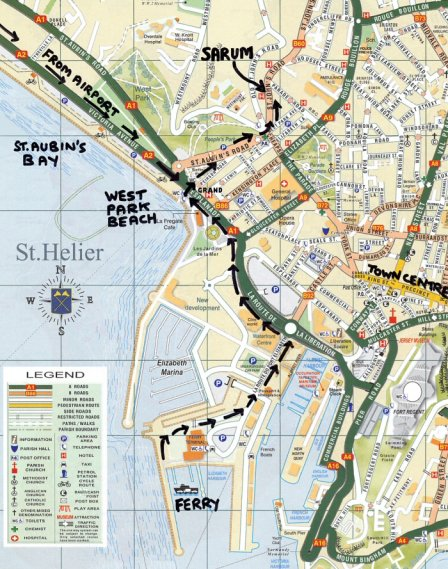Saint Helier Map | Maps Saint Helier Map