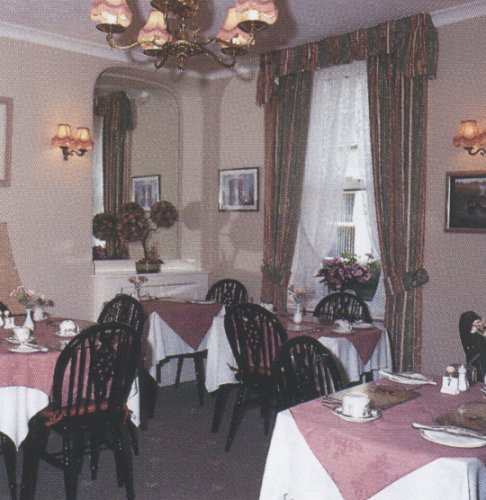 the dining room at the surrey lodge guest house